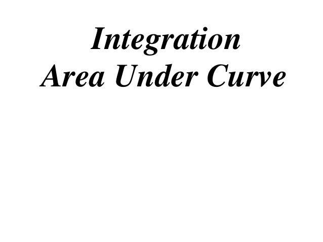 Integration Area Under Curve