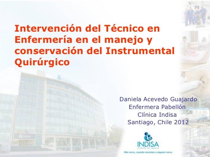 Tec enf manejo conservación instrumental quirúrgico - CICAT-SALUD