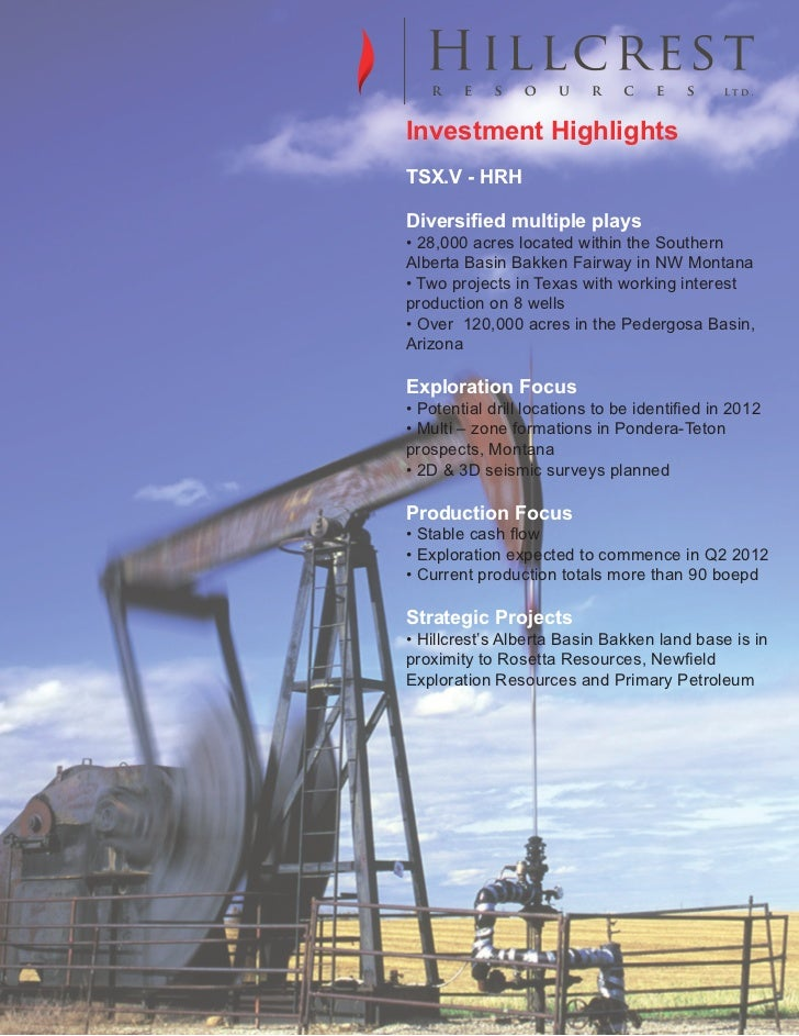 Investment HighlightsPrimary logo         TSX.V - HRH         Diversified multiple plays         • 28,000 acres located wi...