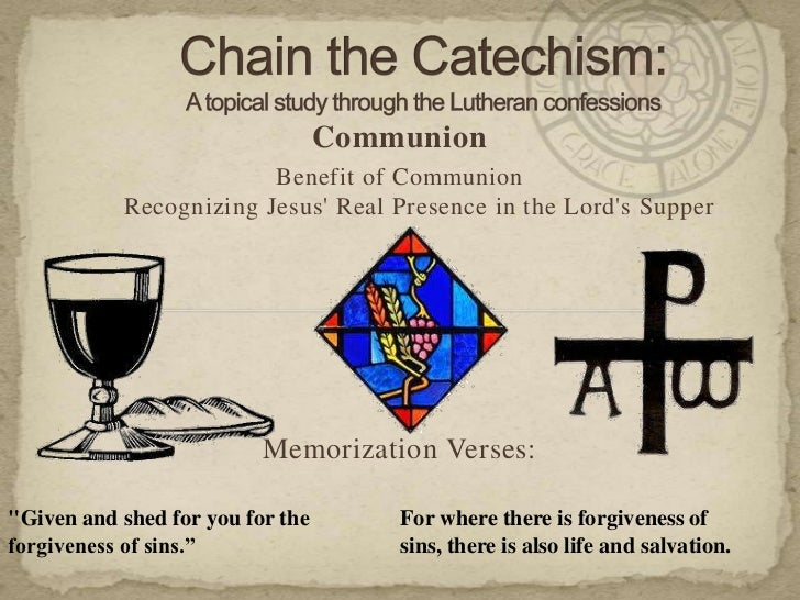 Communion                        Benefit of Communion           Recognizing Jesus Real Presence in the Lords Supper       ...
