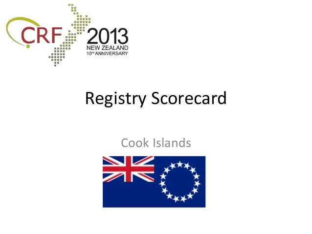 Registry Scorecard    Cook Islands
