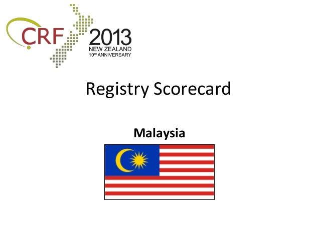 Registry Scorecard     Malaysia