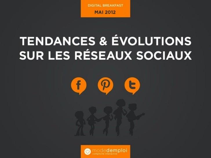 Evolution des réseaux sociaux en              2012