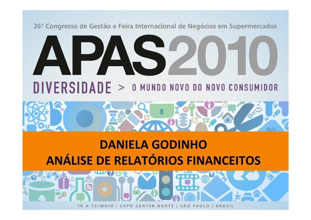 APAS 2010 - Arena do conhecimento com Daniela Godinho
