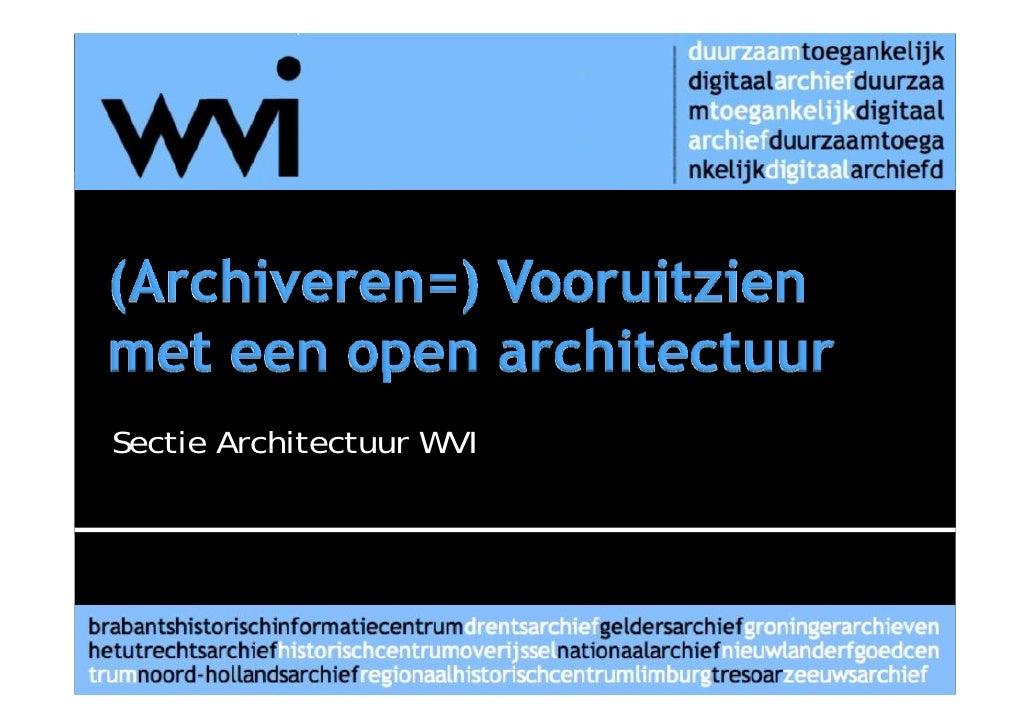Sectie Architectuur WVI