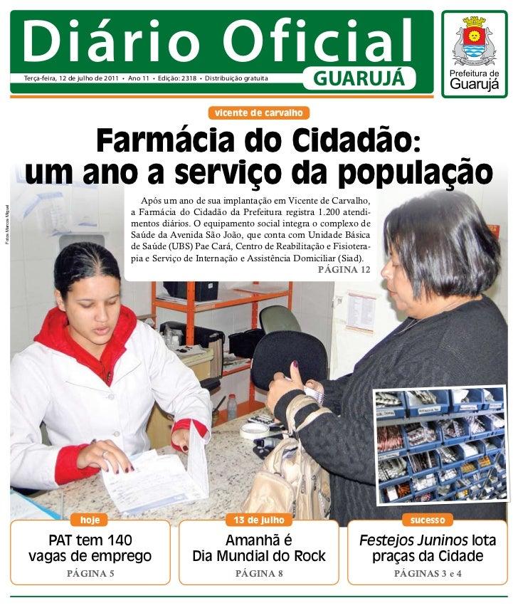 Diário Oficial de Guarujá - 12/07/11