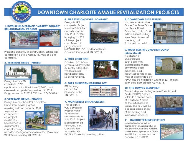 DOWNTOWN CHARLOTTE AMALIE REVITALIZATION PROJECTS                                                  4. FIRE STATION/HOTEL C...