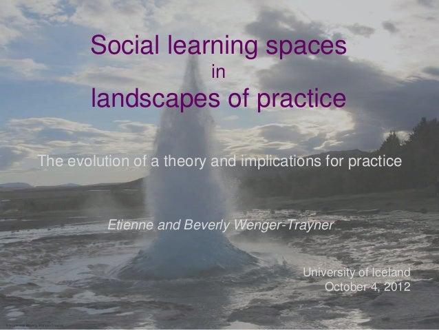 Social learning spaces                                                     in                                     landscap...
