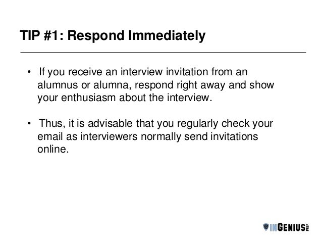 Alumni Interview Tips From The Pros