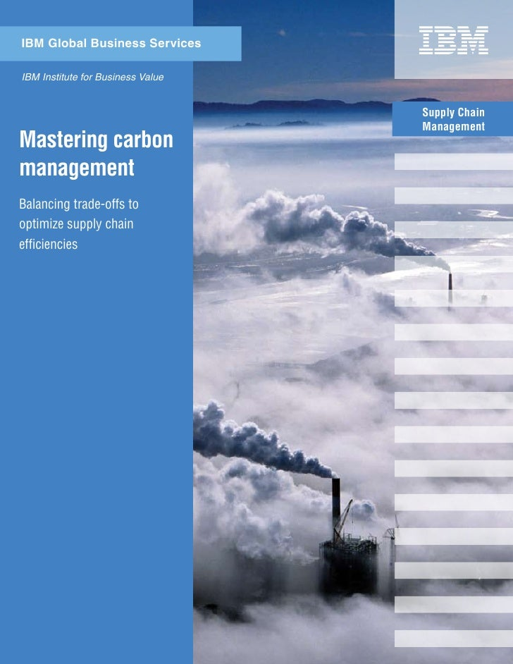 Supply Chain Management - Master Carbon Management
