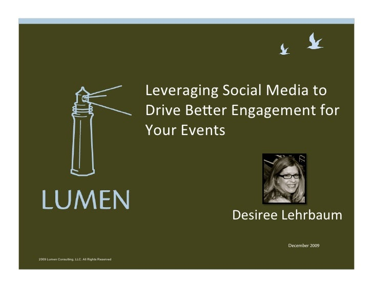 12.10.09 Lumen & CEMA Webinar: Leveraging Social Media to Drive Better Attendee Engagement