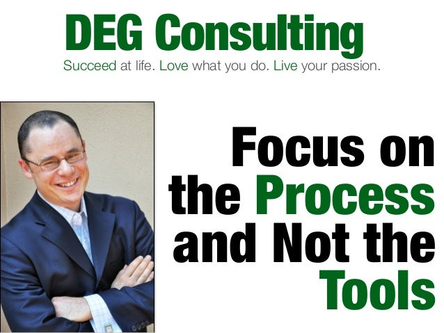 Focus on the Process and Not the Tools: DEG Consulting's Productivity Presentation on MortgageCoach.com's Leadership Call - 11/13/12