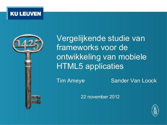Tussentijdse presentatie 22/11/2012
