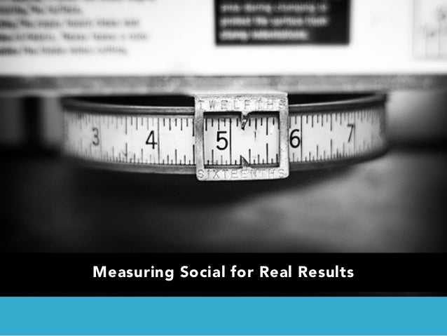 Measuring Social for Real Results