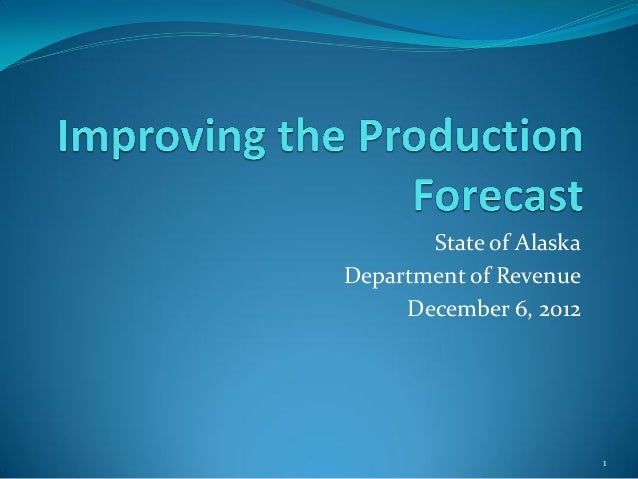 State of AlaskaDepartment of Revenue     December 6, 2012                         1