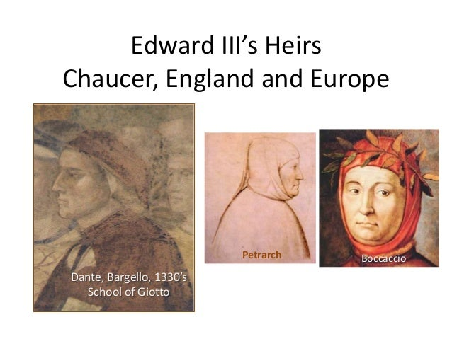 12. f2013 England in the Age of Chaucer and Europe   Heirs of Edward iii