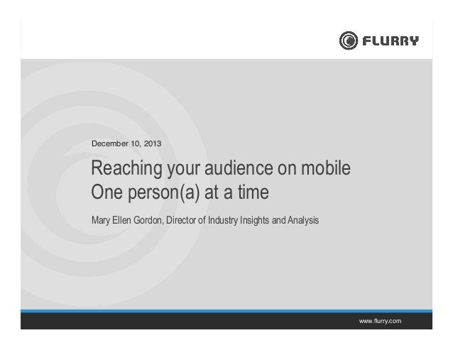 Reaching your audience on mobile one Person(a) at a time.