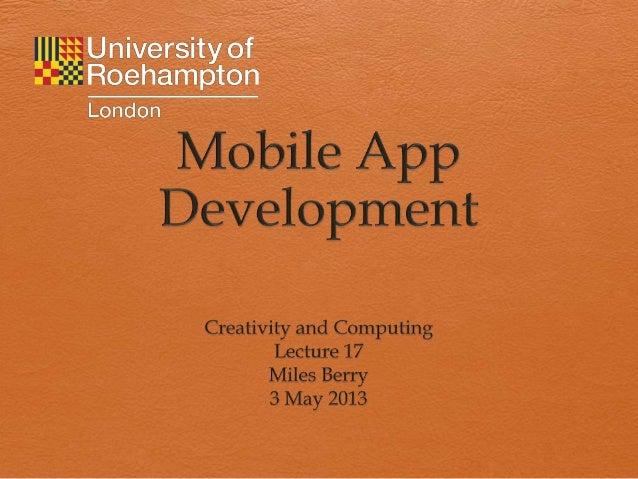 Mobile app development 12 13 y1 ict ssp l17 rev