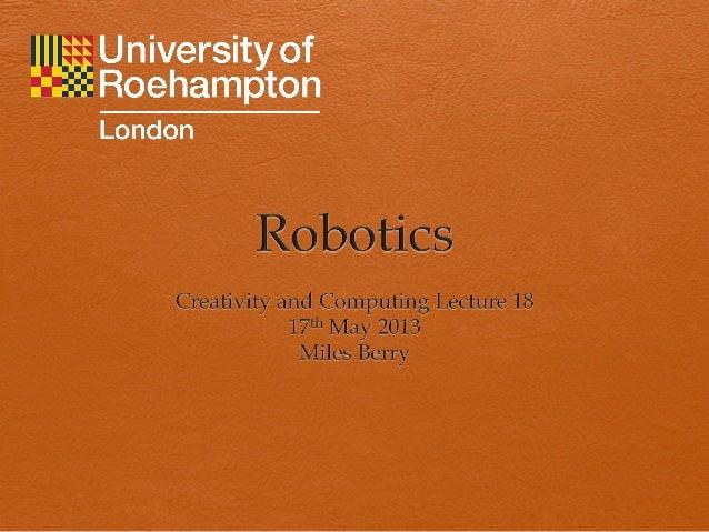 Robotics 12 13 y1 ict ssp l18
