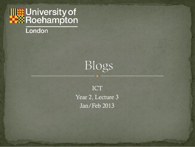 Blogging - Y2 ICT L3
