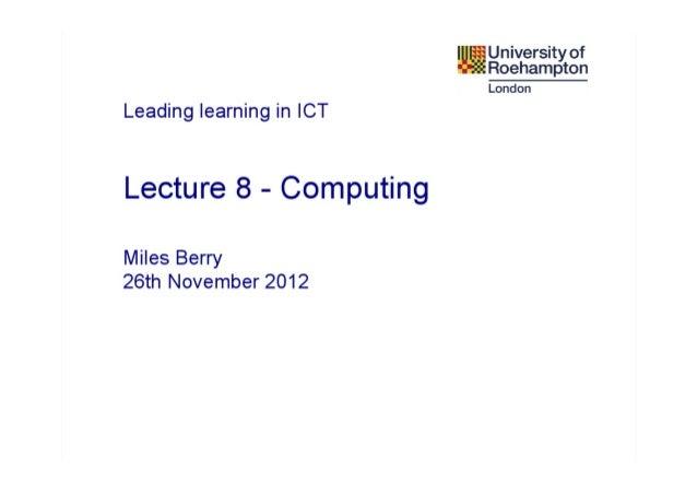 Y3 Specialists L9 - Computing