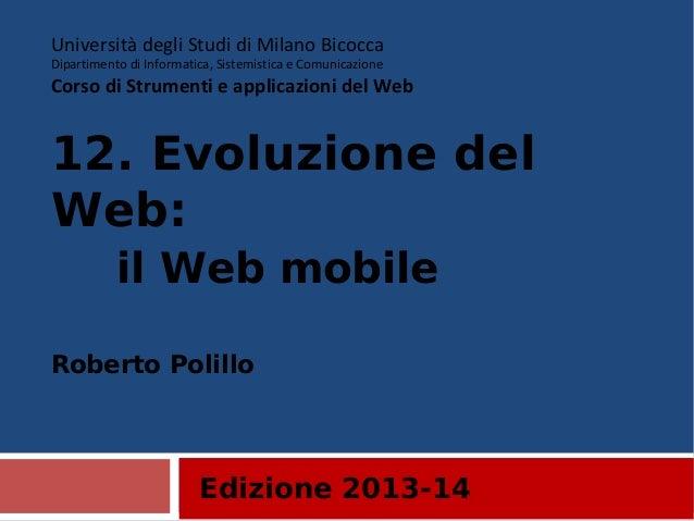 12. Mobile internet