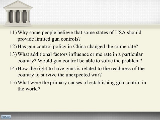 gun control research paper essay Use this guide to learn about the different sides of view on the gun control issue be sure to use it when submitting your paper.