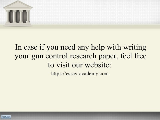 Thesis statement examples on gun control