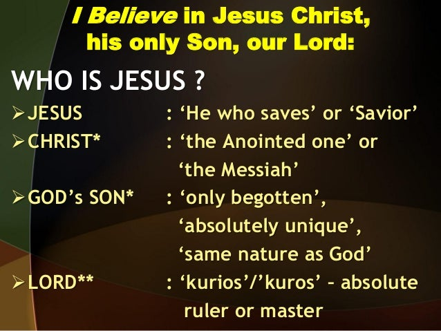 I am a Christian. I believe in Jesus Christ.