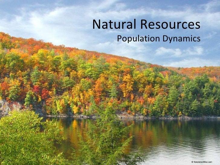 Natural Resources Population Dynamics