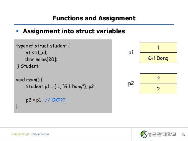 Struct assignment