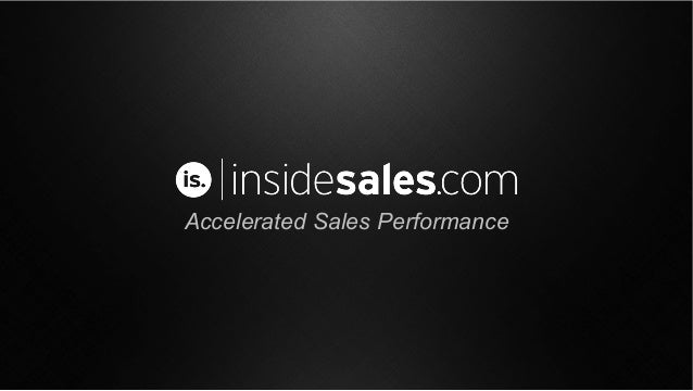 Accelerated Sales Performance