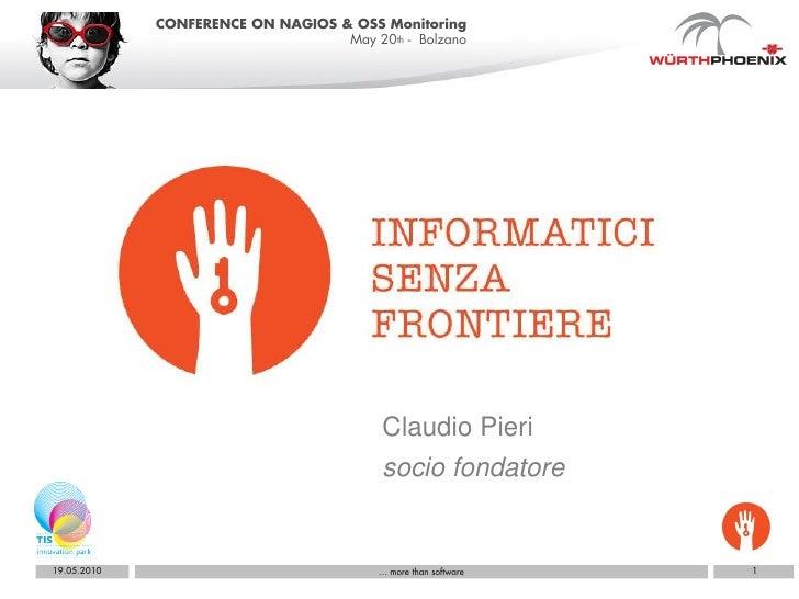 Informatici senza frontiere alla Conferenza Nagios a Bolzano