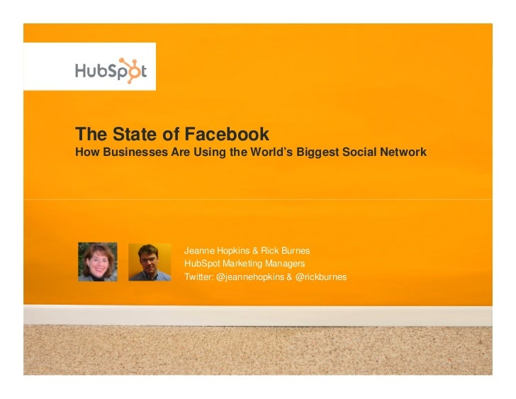 The State of Facebook How Businesses Are Using the World's Biggest Social Network                       Jeanne Hopkins & R...