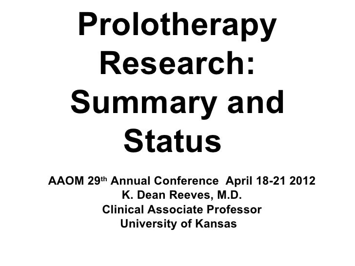 12 aaom reeves  workshop apr 19   research summary