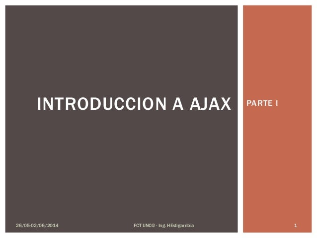 Introduccion a AJAX