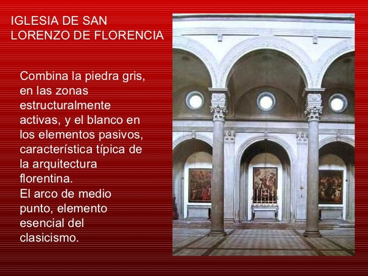 Arquitectura del renacimiento brunelleschi for Interior iglesia san lorenzo brunelleschi