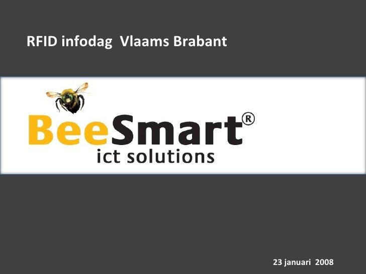 RFID infodag  Vlaams Brabant 23 januari  2008