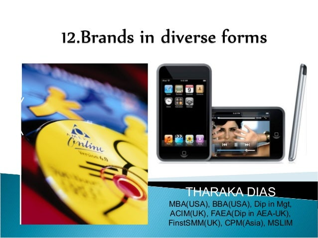 12.brands in diverse forms