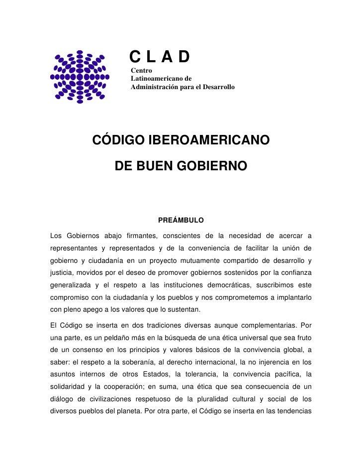12. código iberoamericano de buen gobierno