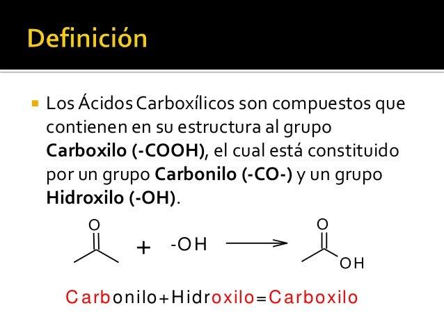 Formula de Los Acidos Carboxilicos Los ácidos Carboxílicos Son