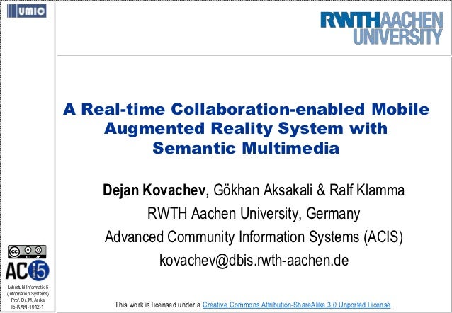 A Real-time Collaboration-enabled Mobile Augmented Reality System with Semantic Multimedia