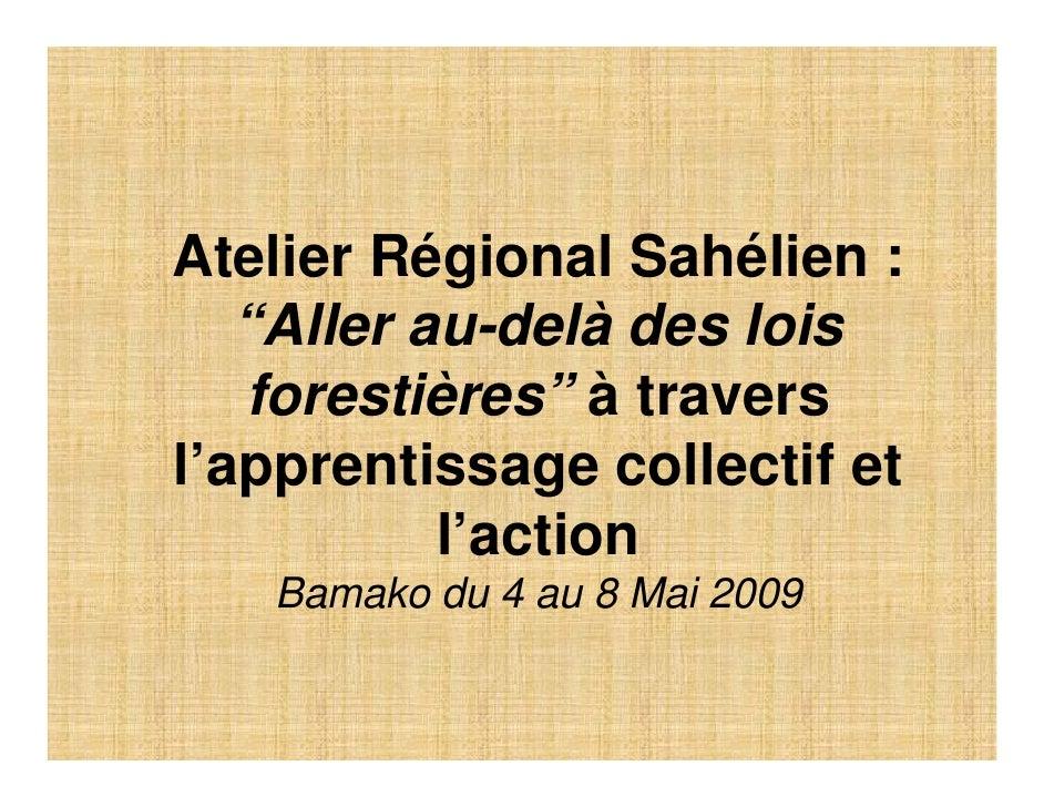 D Sanogo: Sauver les réserves sylvo-pastorales inter villageoises dans le bassin arachidier au Sénégal : quelle stratégie durable ?