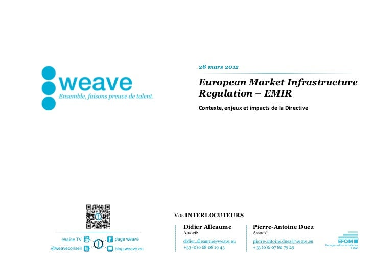 [weave] Risk and Compliance - Directive EMIR