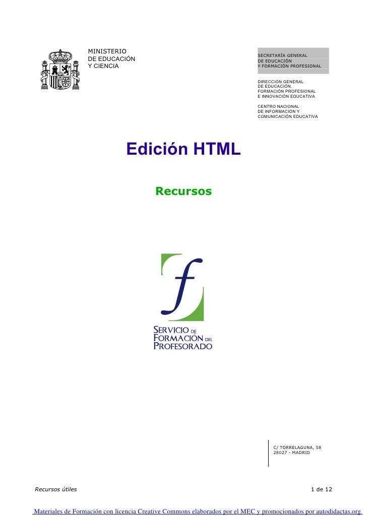 12. Edicion Html. Recursos   0001