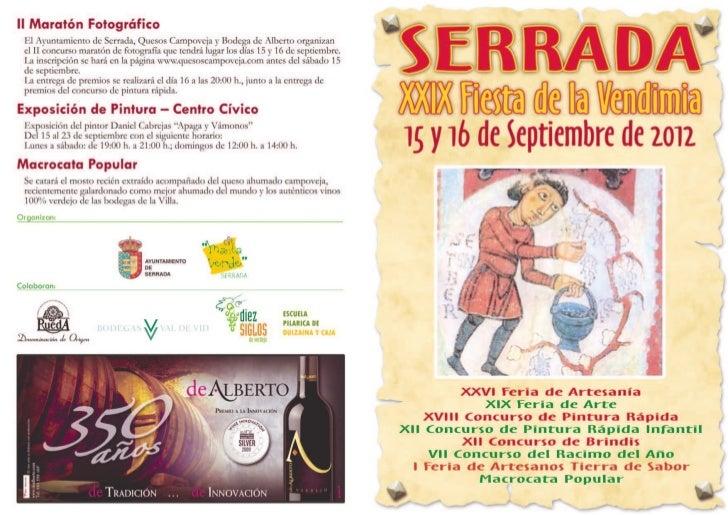Fiesta de la vendimia Serrada ocio y rutas Valladolid