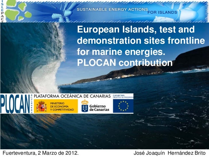 Islands future laboratories for wave energy