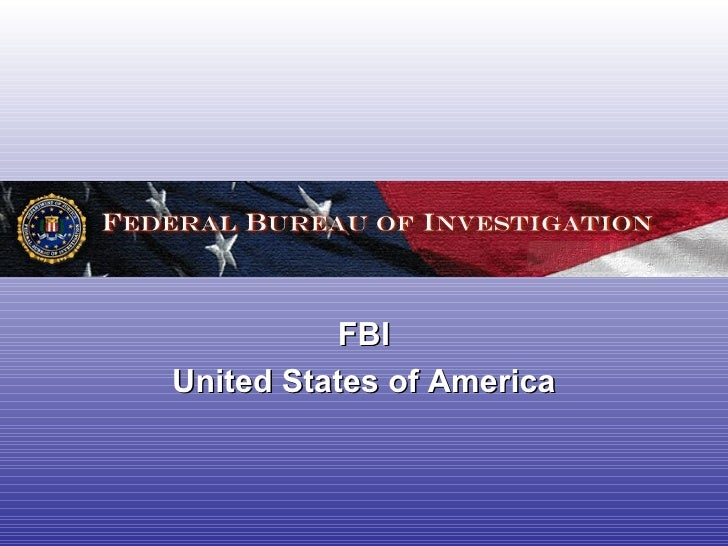FBI United States of America