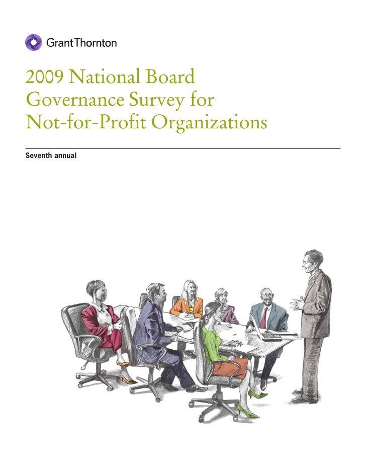 12. NFP Board Governance Survey 2009
