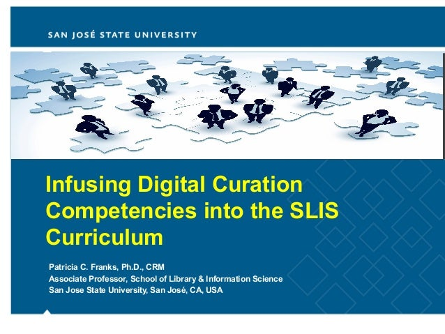 Infusing Digital CurationCompetencies into the SLISCurriculumPatricia C. Franks, Ph.D., CRMAssociate Professor, School of ...